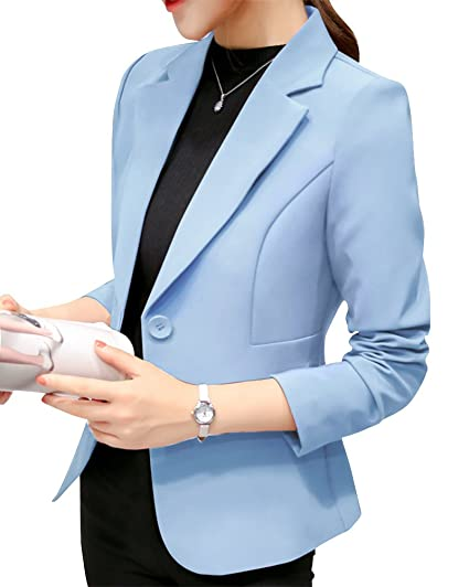 Mujeres Casual Solapa Collar Sólido Traje De Chaqueta Elegante Manga Larga Negocio Blazer