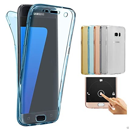 Samsung Galaxy J7 2017 J730 Funda, 2ndSpring 360 Grados Doble Delantera + Trasera De Gel Integral Silicona TPU Carcasa Case Cover para Samsung Galaxy ...