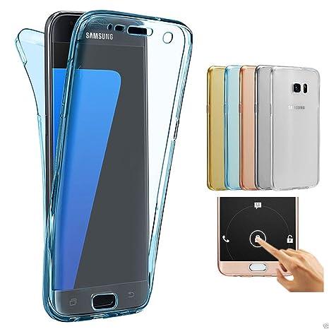 2ndSpring Samsung Galaxy A3 2015 Funda, 360 Grados Doble Delantera + Trasera De Gel Integral Silicona TPU Carcasa Case Cover para Samsung Galaxy A3 ...