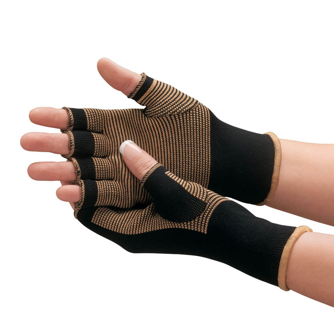PU Health Pure Acoustics Black Pain Relief Soft Magnetic Therapy Gloves Compression