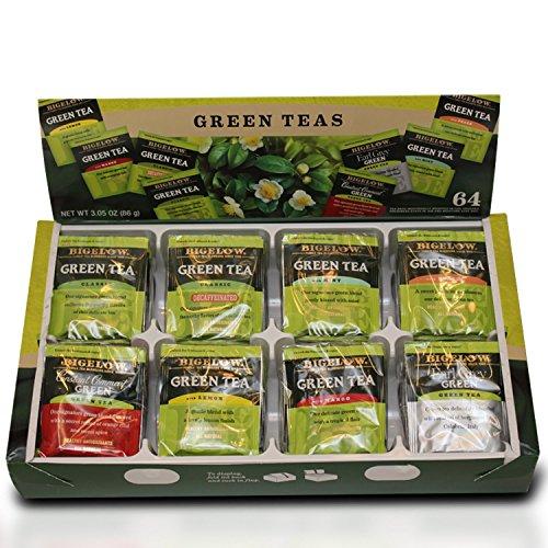 (Bigelow Green Tea Variety Gift Box, total of 64 tea bags)