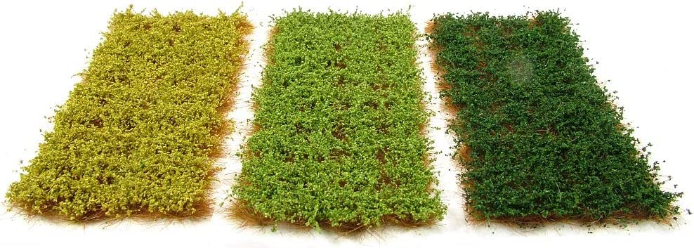 Self adhesive static model scenery x117 Dark green bushy tufts