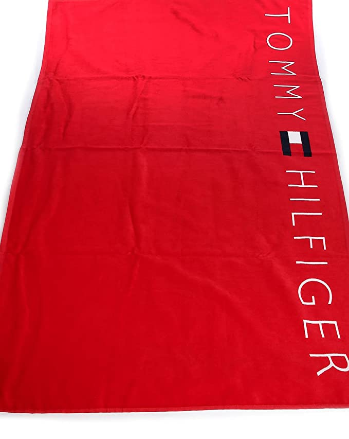 Tommy Hilfiger Logo toalla de playa (rojo - Apple rojo): Amazon.es: Hogar