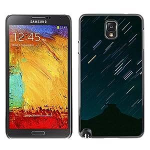 Espumosos rayos ligeros - Metal de aluminio y de plástico duro Caja del teléfono - Negro - Samsung Note 3 N9000