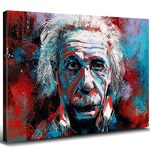Albert Einstein Wall Art Homes Decorations for Living Room Oil Paintings Prints on Canvas Contemporary Art Abstract Painting Motivational Inspirational Science Posters Modern Framed Artwork 1 Pcs