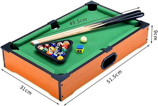 Mini tablero piscina Set Mini mesa de billar escritorio miniatura mesa de billar Conjunto de mesa de juego de juguete piscina-billar de mesa: Señales y la cremallera piscina Familia que juega for