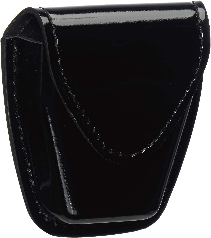 Safariland 190-9HS Black Hi-Gloss Hidden Snap Top Flap Chain Handcuff Pouch