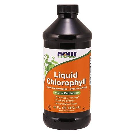 Now Foods | Clorofila líquida vegetal (liquid chlorophyll) | sabor a menta | 16 fl oz (473 ml) | sin gluten y soja