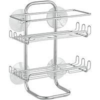 InterDesign Classico Suction Bathroom Shower Caddy Shelves for Shampoo, Conditioner, Soap -
