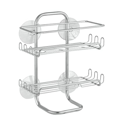 Amazon.com: InterDesign Classico Suction Bathroom Caddy – Shower ...