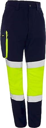 Ref MONZA OBREROL Pantal/ón De Trabajo Reflectante Largo Combinado de Hombre Alta Visibilidad Profesional 4761