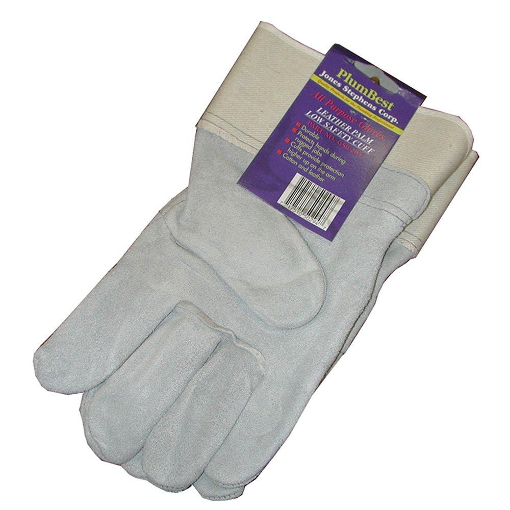 Jones Stephens Corp - Leather Palm Safety Cuff Glove Disp (96)