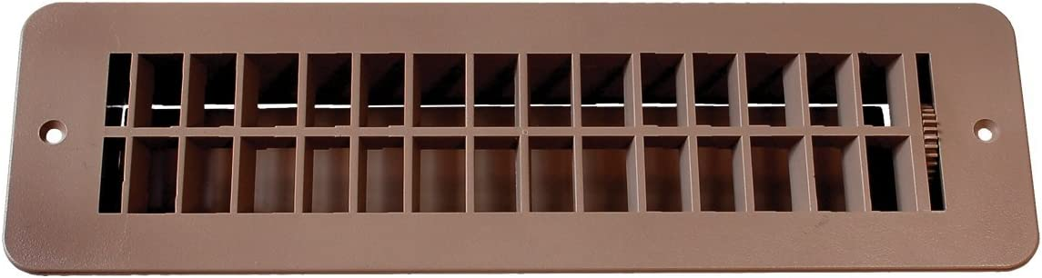 RV Designer H860, Plastic Floor Register with Damper, 12 inch x 3-1/2 inch, Tan, Interior Hardware