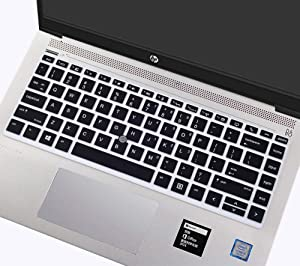 "Silicone Keyboard Cover for HP Elitebook 840 G5 & 840 G6, HP Elitebook 745 G5 & 745 G6 14"" Notebook/HP ZBook 14U G5 14"" Keyboard Protector Protective Skin (with Pointing), Black"