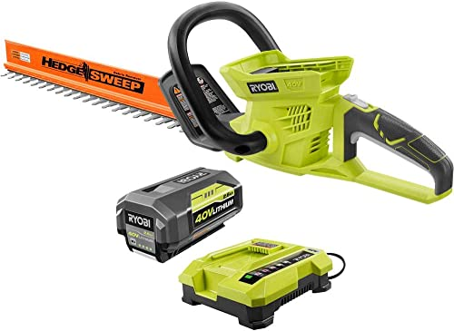 Ryobi 40-Volt Cordless Hedge Trimmer 24 includes Lithium-Ion Battery plus Charger