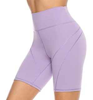Kipro/Damen Kurz Yogahose Sport Leggins Yoga Shorts Hohe Taille Workout Fitness Shorts mit Taschen