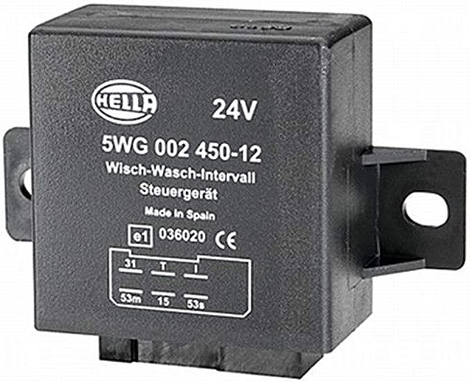 Hella 5wg 002 450 121 Relais Wisch Wasch Intervall 24v 6 Polig Mit Halter Auto