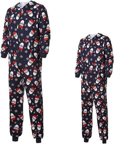 cinnamou Pijamas Una Pieza Familiares De Navidad, Conjunto ...