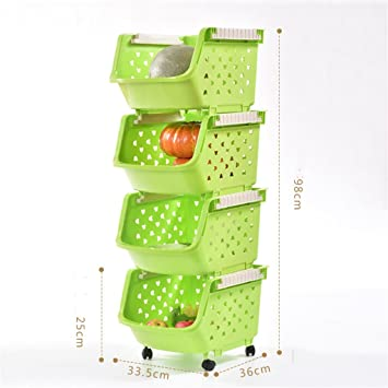 Amazon De Multifunktions Kuchenregal Lagerung Rack Obst Gemuse