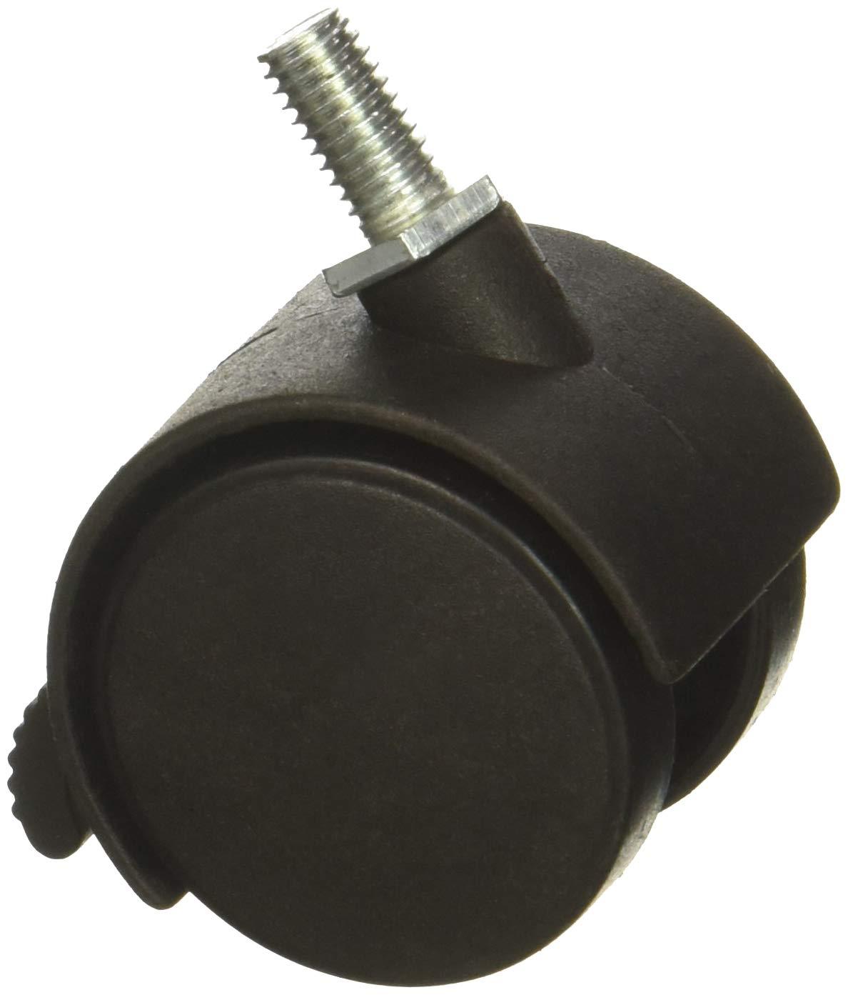 Uxcell a15042400ux0069 1.5 Twin Wheel 5//16 Threaded Stem Brake Swivel Nylon Casters 3pcs