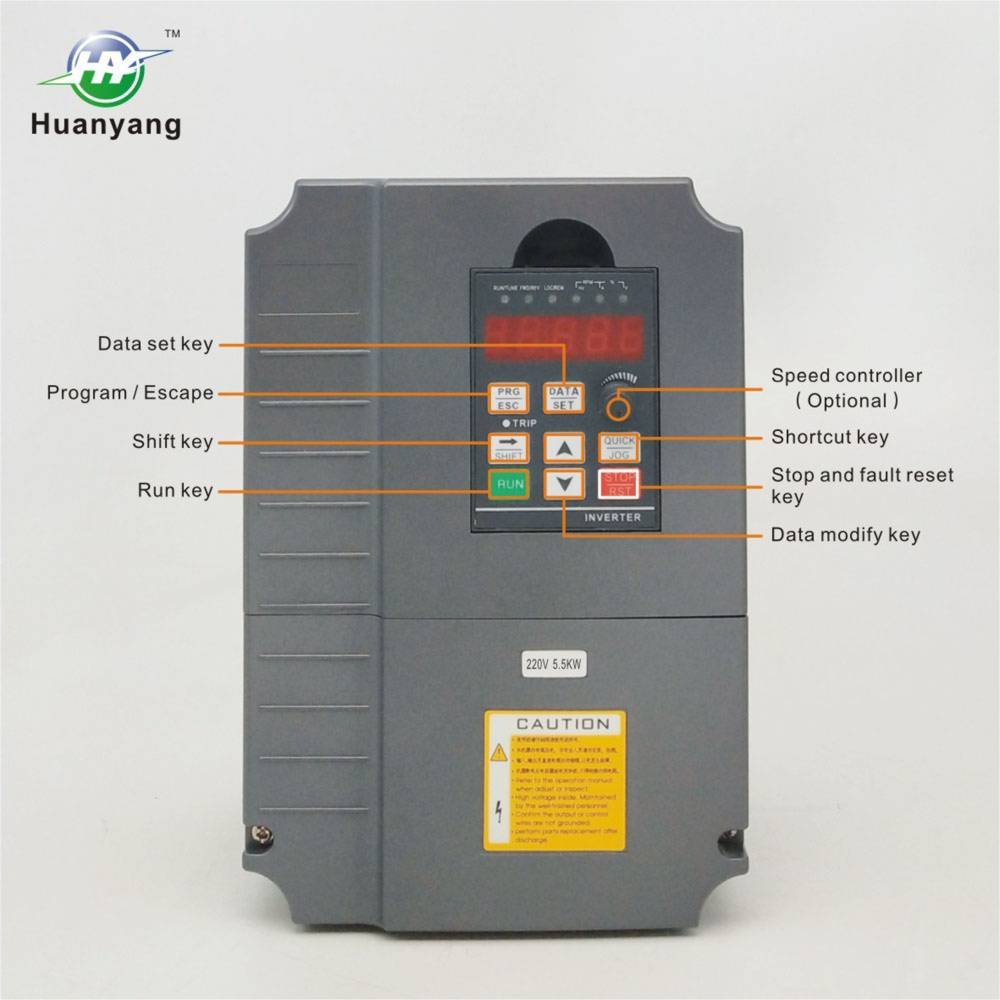 Vector Control Cnc Vfd Variable Frequency Drive Controller Inverter Complicated Circuit Gives Better Low Speed And Higher Torque Converter 220v 55kw 75hp For Motor Huanyang Gt Series