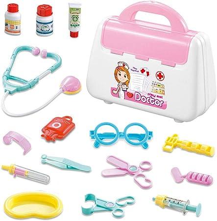 Volwco Doctor Kit para niños, Juguetes para niños, Kit de médico con 15 Piezas de Equipo médico, Juego de Juguete médico Realista, Juego para niños y Juego de rol médico: Amazon.es: Hogar