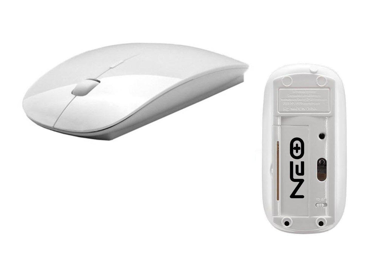 Mini ratón óptico sin hilos delgado con el receptor 2.4G del usb para los ordenadores portátiles / PC de escritorio XP / Vista / Windows 7 / Windows 10 ...