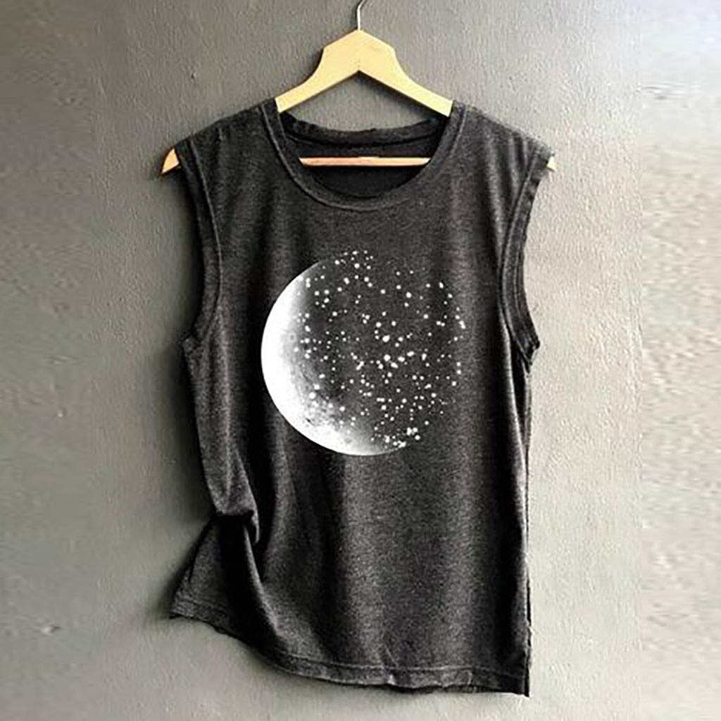 OVINEE Fashion Print Sleeveless Vest Blouse for Women Casual Loose T-Shirts Pullover Tank Tops Soft 2019 Summer