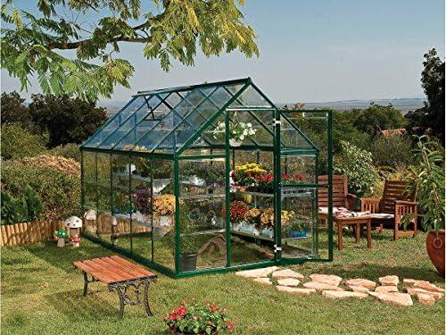 Viva Green 1174 _ 701783 Harmony Invernadero policarbonato/plástico Verde 6, 8 m² 370 x 185 x 209 cm: Amazon.es: Jardín