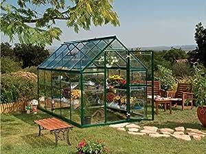 Viva Green 1174_ 701783Harmony invernadero policarbonato/plástico verde 6,8m² 370x 185x 209cm
