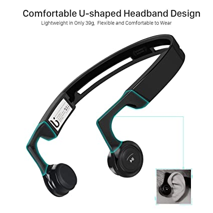 Auriculares de Conducción Ósea Bluetooth 4.1 Inalámbrico para Correr Deportes Oído Abierto IPX 4 Impermeable Prueba de Sudor con Micrófono Borofone ...