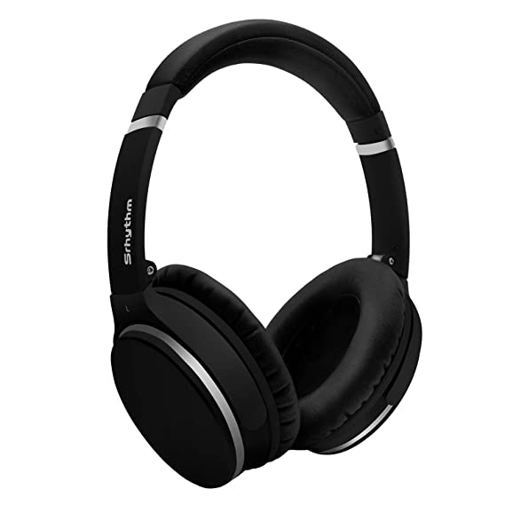 Review Wireless Active Noise Cancelling Headphones Over Ear, Srhythm Foldable Deep Bass Hi-Fi Stereo Bluetooth Headset with Mic and Wired Mode for TV, PC, Cell Phones (16h Playtime, Low Latency)