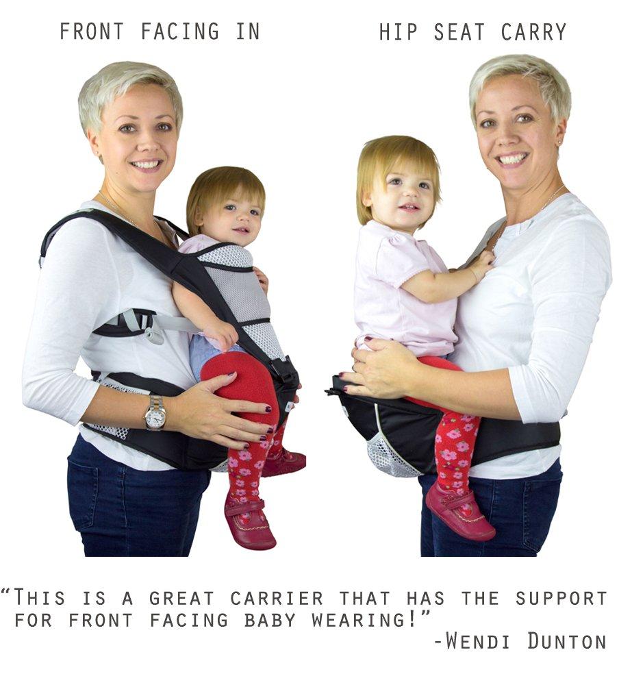 ... NimNik avec Siège de Hanche - Porte bébé Ergonomique Ventral ou Dorsal,  Agrandir l image cc81542b456