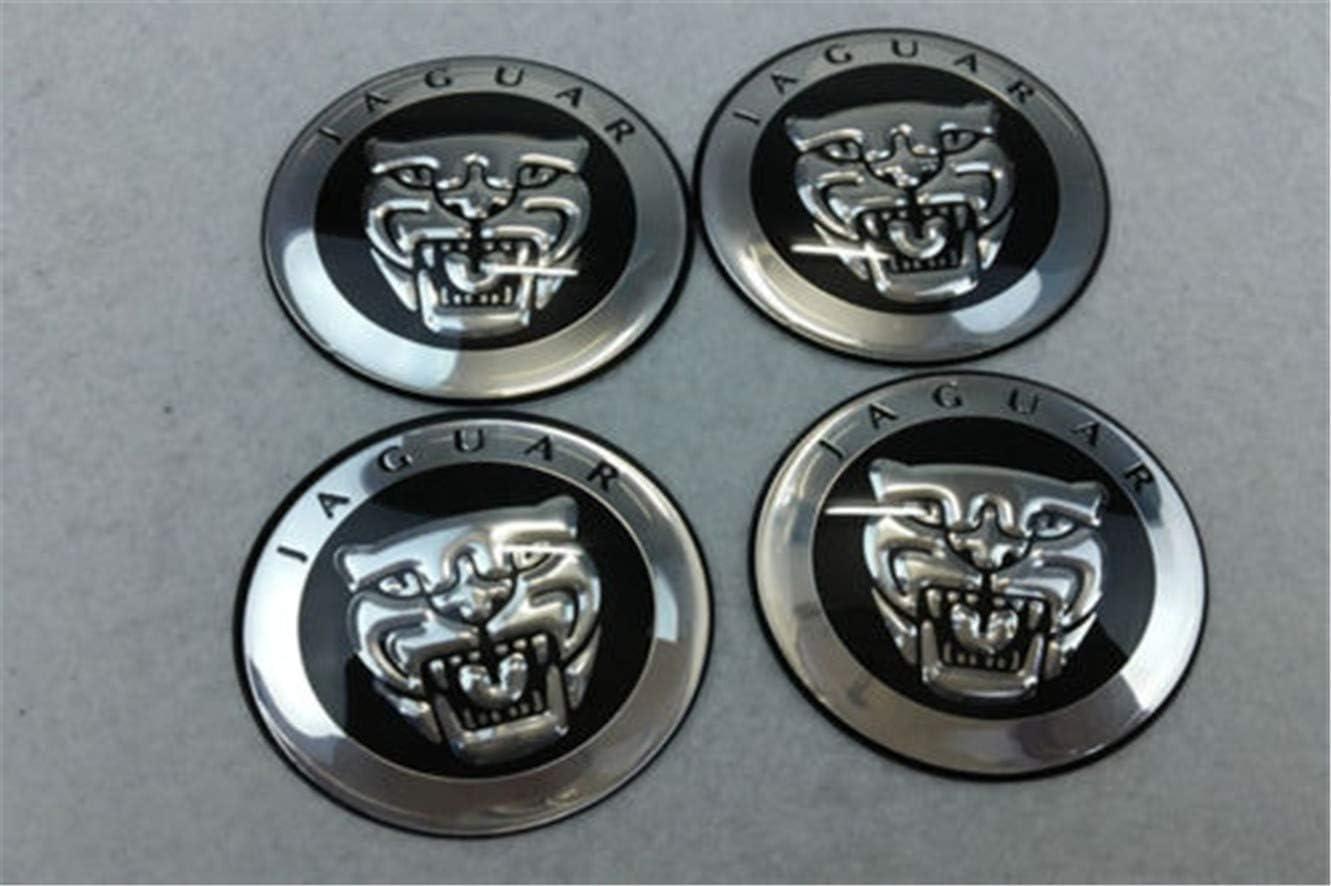 GONGXIFACAI 4Pcs Car Wheel Center Hub Cap Covers emblem sticker 65mm Fit for Jaguar