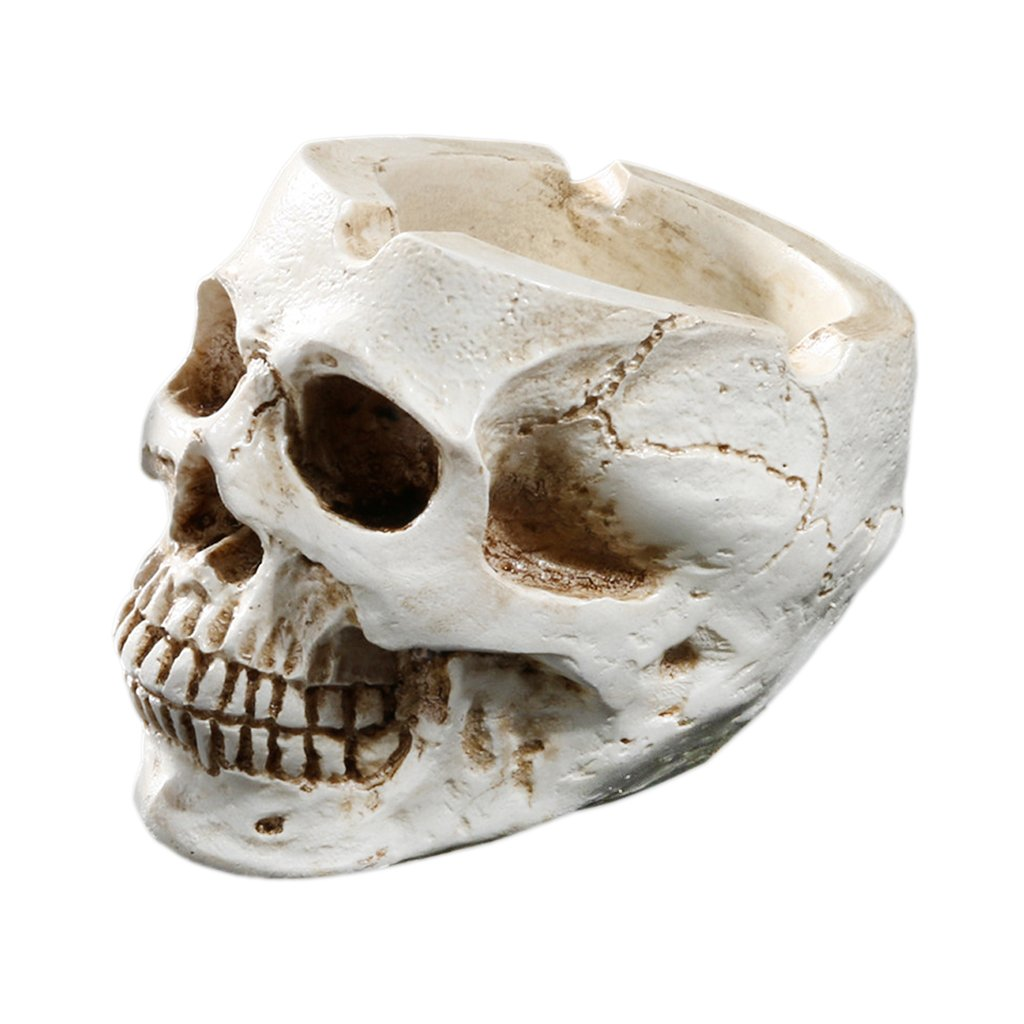 Cigar Ashtray Smokers Human Skull Ashtray Holder Portable Small Size othic Style for Indoor Outdoor