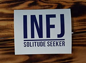 CLIFFBENNETT INFJ Decal Myers Briggs Personality Decal - Vinyl Laptop Sticker- Introvert - MacBook Decal - MBTI Decal