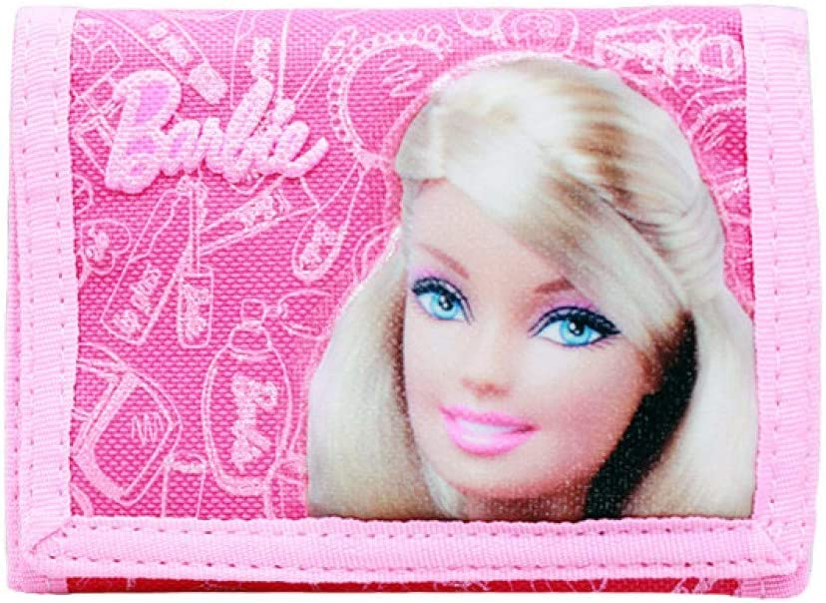 coin Purse tri-fold Brand new Barbie girls kids cartoon Wallet