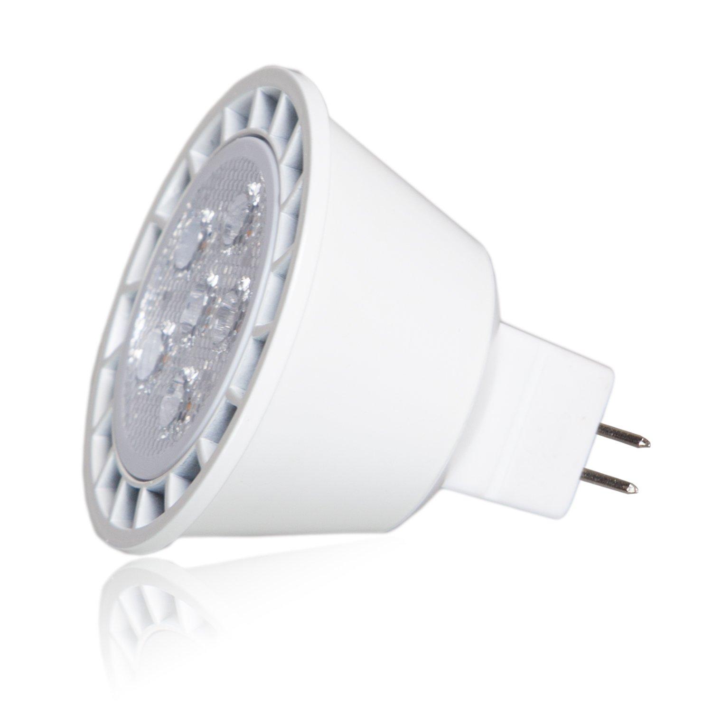 Maxxima 7 Watt Dimmable MR16 LED Daylight 490 Lumens 50 Watt Equivalent Light Bulb Pack of 2 Energy Star 5000K 35 Degree Flood