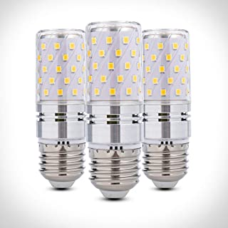 YRLighting Corn E26 LED Bulbs, 12W(100 Watt Equivalent), 3000K Warm White LED LED Candelabra Bulb, 1200lm, Decorative Candle Base E26 Non-Dimmable LED Chandelier Bulbs, Pack of 3