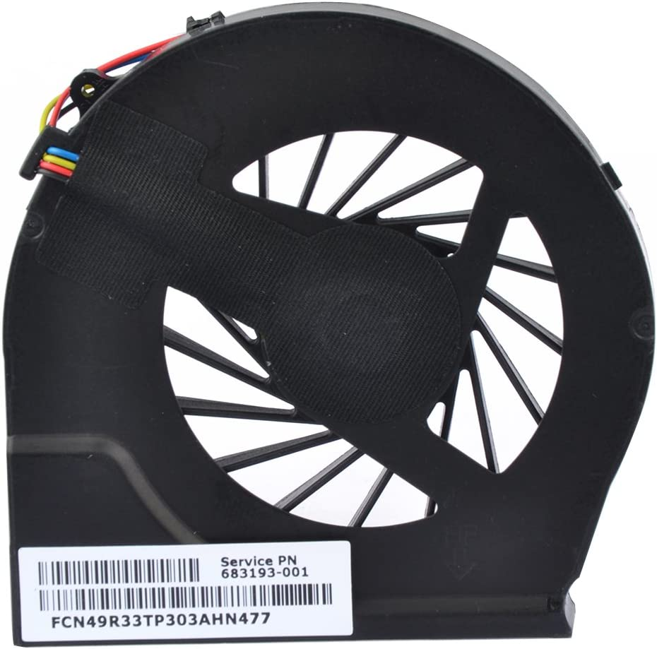 Eathtek Replacement CPU Cooling Fan for HP Pavilion g6-2002xx g6-2010nr g6-2031nr g6-2033nr g6-2040ca g6-2040nr g6-2210us g6-2211nr g6-2213nr g6-2216nr g6-2397nr g6-2398nr (4 pin 4 Connector)