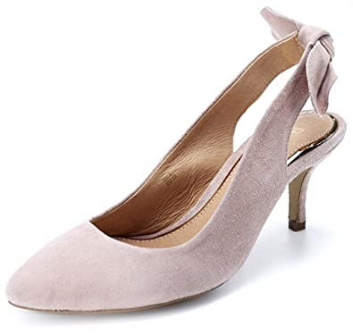 Ravel Kerr Sling Back Kitten Heel Sandal - Nude - UK 6: Amazon.co ...