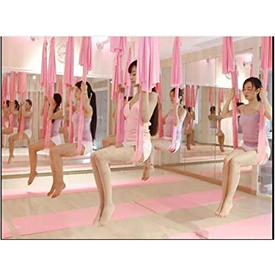 Alger Hamac de yoga antigravité | Salle de yoga | Stretch micro de yoga de bout droit de yoga, 500 * 280cm , pink