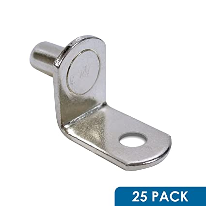 Rok Hardware 5mm L Shaped Support Furniture Cabinet Closet Shelf Bracket  Pegs With Hole,