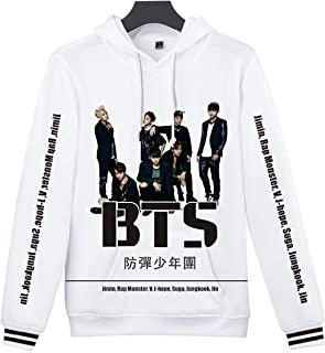 SIMYJOY Unisex BTS Fans Hoodie 3D Print Love Yourself Tear Baseball Jacket Digital Print Pullover Cool Kpop Sweatshirt for Men Women Teen