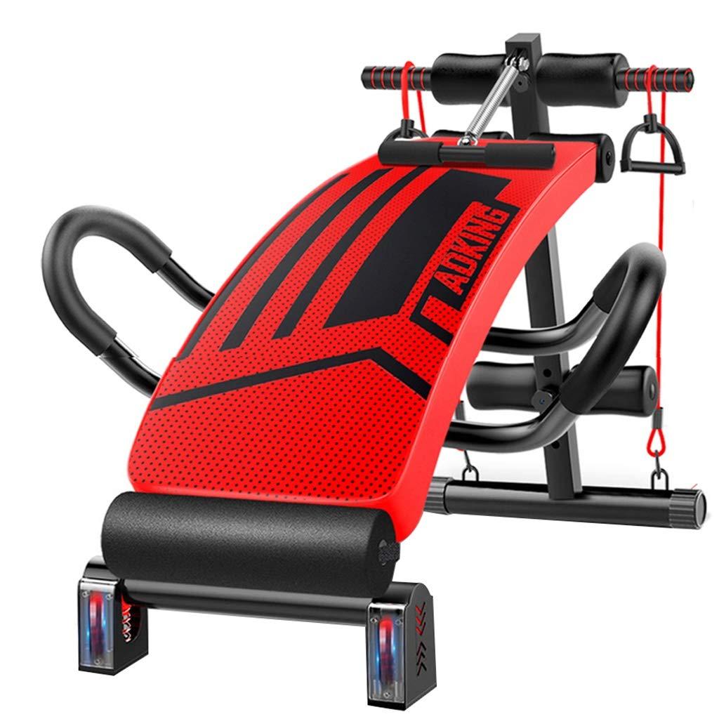 CHS@ 赤い衝撃吸収調節可能な座っているベンチ斜板プロアブ、調節可能な練習腹部の運動多機能ベンチボード 多機能   B07P6TWRJY