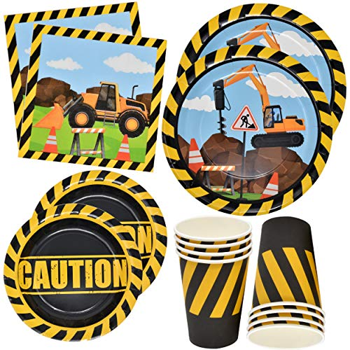 Construction Themed Birthday Party Supplies Tableware Set 24 9