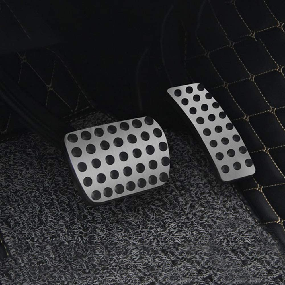 Automatic Car Gas Brake Pedal Cover Aluminum Alloy No Drilling Car Anti Slip Fuel Brake Pedals Accelerator Brake Foot Rest Pedals Covers for A CIA GLA ML GL R Class W176 W246 W245 W251 W166 W164