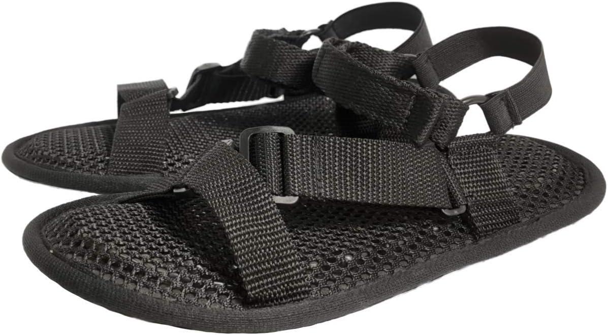 AC Rabbit Flat Sandals Air Cushion Breathable Non-Slip Soft Support Sandals Washable Black