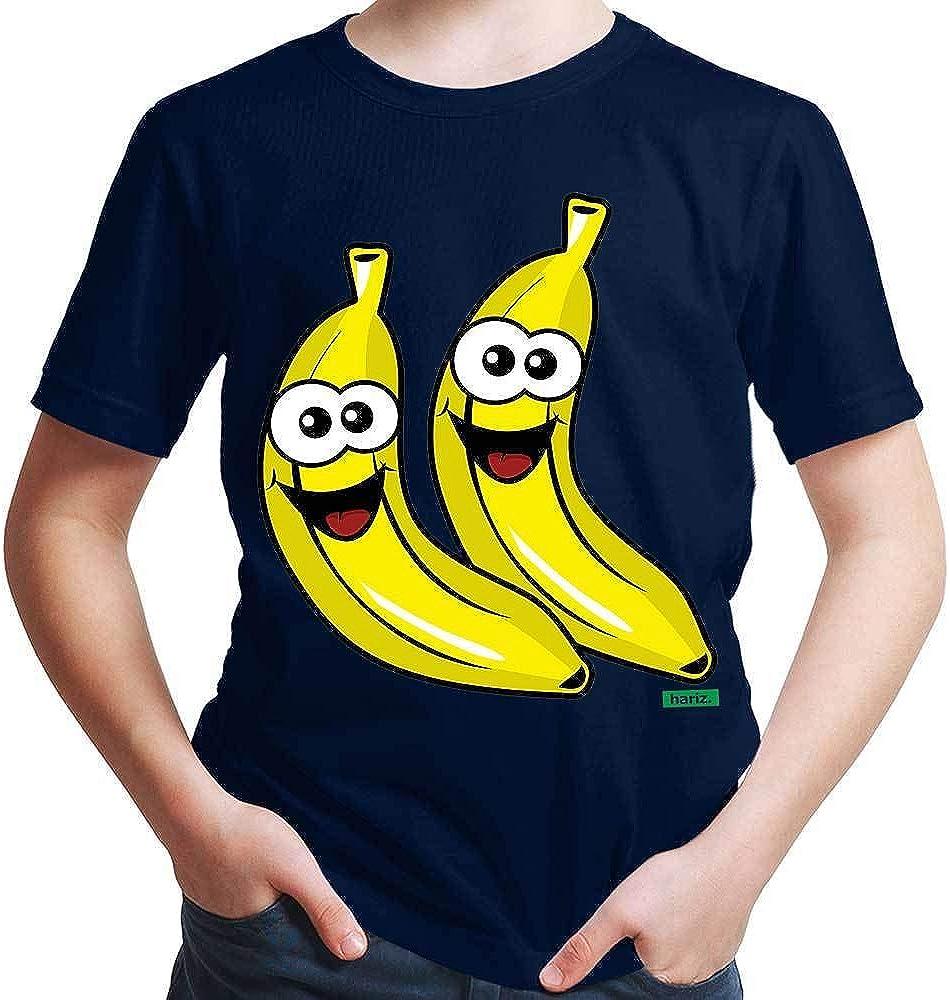 Hariz - Camiseta para niño con diseño de plátanos, frutas ...