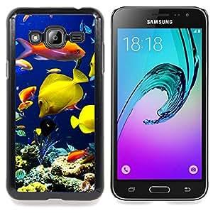 Planetar ( Submarino de Arrecifes de Coral Buceo Peces ) Samsung Galaxy J3(2016) J320F J320P J320M J320Y Fundas Cover Cubre Hard Case Cover